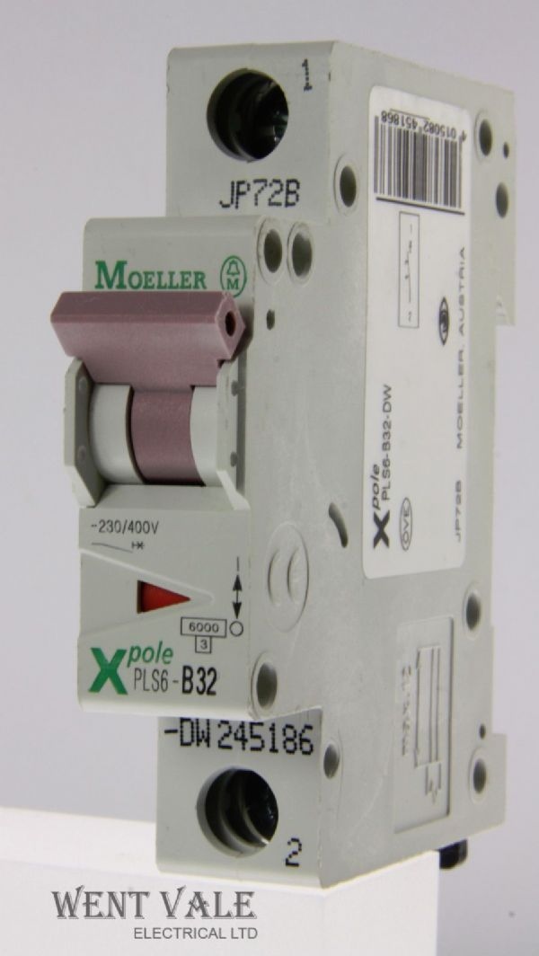 Moeller X Pole - PLS6-B32-DW - 32a Type B Single Pole MCB Used